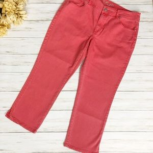Chico's Platinum Denim Crop Jeans Coral